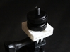 GoPro to Hotshoe to Tripod Mount 3d printed Tightening nut screws on