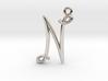 N Initial Charm 3d printed