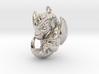 Metal Baby Dragon Pendant 3d printed