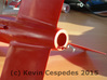 Der Red Max-style Fin Unit BT-60 for 18mm motors 3d printed