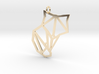 Origami Fox Pendant 3d printed