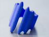 Waves ring (Size 18). 3d printed Waves Ring - Royal Blue - Photo