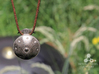 Handpan Instrument Pendant 3d printed Stainless Steel Finish