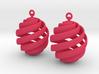 Rhumb Lines Earrings 3d printed