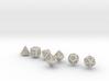 FUTURISTIC GESTALT dice 3d printed