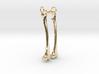Femur Earring Pair 3d printed