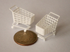 5 Miniature Shopping Trolleys (Linked) 3d printed