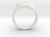 Signet Ring Deer Logo 19mm men 3d printed