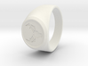 Signet Ring Deer Logo 19mm men 3d printed