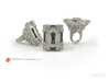 Keyhole Baroque - Huge Detailed Ring S. Silver 3d printed Polished Silver