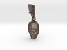 Steel Ares, god of war pendant (facing forward) 3d printed