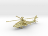Helicopter Apache Ah-64 Gold & precious materials 3d printed
