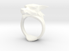 Wolf's head ring, Size 10 3d printed