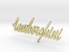 Pendant lamborghini gold & precious materials 3d printed