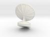Free Standing Radar Dish 6mm Scale 3d printed