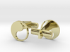 Yin Yang Hollow Cufflinks 3d printed
