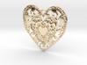 Flourish Whole Heart Pendant 3d printed