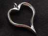 Twisted Heart pendant 3d printed Printed for someone special