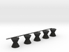 Senet Black Game Pieces Only 3d printed