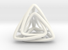 Twisted Tetrahedron 3d printed