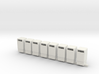 Trash Cans 1/87th HO Scale Set of 8 3d printed