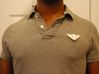 FLYHIGH: Mens Bird Pendant 3d printed FLYHIGH Mens Bird Pendant fitted with a safety pin on my polo