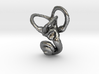 Ear Charm, Cochlea & Canals Pendant 3d printed