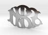 NZR monogram badge 3d printed