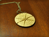 Compass Medallion 3d printed Gold plated matte finish compass medallion