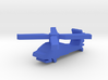 Game Piece, Blue Force Apache Helicopter 3d printed
