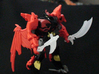 Transformers Rippersnapper's 3mm Scythe 3d printed Predaking with the Armor-Ripper and the Stormslasher (Available Separately)