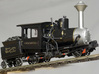 Cog Railway Locomotive #9 - O Scale 3d printed Painted and detailed model of the locomotive and tender (available separately) by Warren Disbrow.
