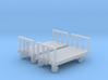 Four wheeled platform trolley (HO scale) 3d printed