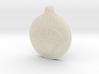 White Lantern Key Chain 3d printed