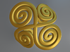 4 Spirals & Ovals Ring (Size 17) 3d printed 4 spirals & Ovals Ring (Top view)