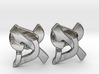 "Hebrew Monogram Cufflinks - ""Aleph Pay"" Large 3d printed"