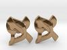 "Hebrew Monogram Cufflinks - ""Aleph Pay"" Large 3d printed"