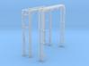 N Scale Pipe Bridge Single Track (incl 2 pipes) 3d printed