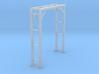 N Scale Pipe Bridge Single Track 3d printed