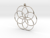 Flower of Life - Hollow Pendant V2 3d printed