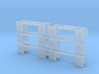 1/87th set of 12 truck mudflap light bars 3d printed