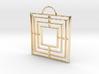 Triple Square Pendant 3d printed