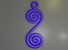 Spirals earring or pendant 3d printed Spirals (Blue)