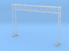 HO Scale Sign Gantry 105mm 3d printed