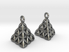 Flower Of Life Tetrahedron Earrings 3d printed