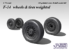 1/72 F-14 wheels  & tires weighted (2 set) 3d printed