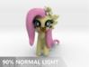 Fluttershy 1 Full Color - XL 3d printed