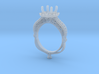 CD274- Fashion Engagement Ring Printed Wax 3d printed