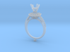 CC3-Engagement Ring With  Separated Parts- Printed 3d printed