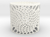 Voronoi capped cylinder lampshade 3d printed